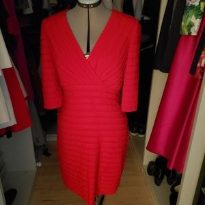 Ferrari Red Adrianna Papell Dress